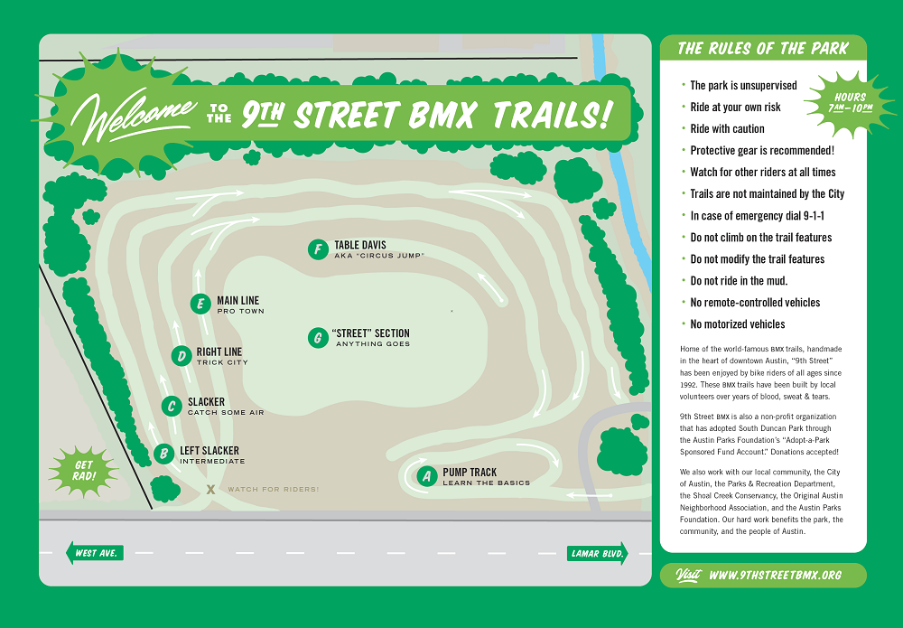9th street bmx trail map